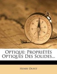 Optique: Propriétés Optiques Des Solides...