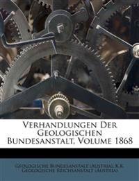 Verhandlungen der Geologischen Reichsanstalt, Jahrgang 1868