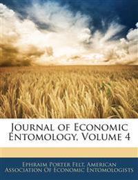 Journal of Economic Entomology, Volume 4