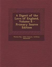 A Digest of the Laws of England, Volume 6