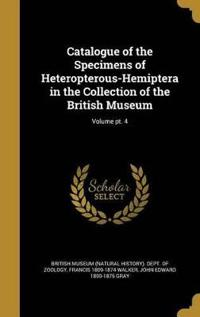 CATALOGUE OF THE SPECIMENS OF