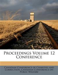 Proceedings Volume 12 Conference