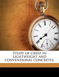 Study of creep in lightweight and conventional concretes.