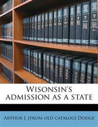 Wisonsin's admission as a state
