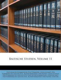Baltische Studien, Elfter Band