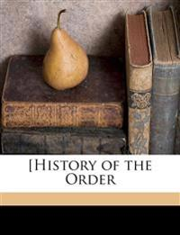 [History of the Order