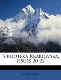 Biblioteka Krakowska, Issues 20-22