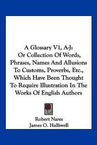 A Glossary, A-j