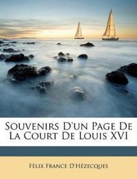 Souvenirs D'un Page De La Court De Louis XVI