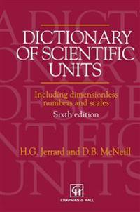 Dictionary of Scientific Units