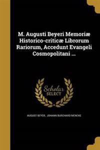 M AUGUSTI BEYERI MEMORIAE HIST