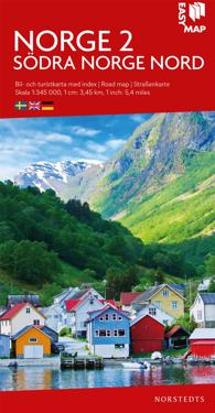 Södra Norge nord EasyMap : Skala 1:345.000