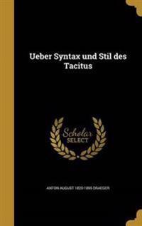 GER-UEBER SYNTAX UND STIL DES