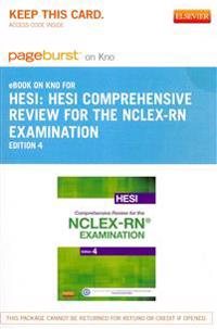 Hesi Comprehensive Review for the NCLEX-RN Examination - Elsevier E-Book on Intel Education Study (Retail Access Card)
