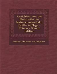 Ansichten von der Nachtseite der Naturwissenschaft, Dritte Auflage - Primary Source Edition