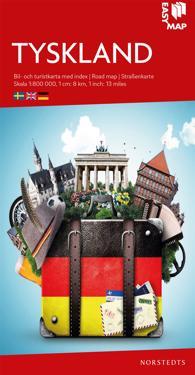 Tyskland EasyMap : Skala 1:800.000