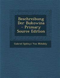 Beschreibung Der Bukowina
