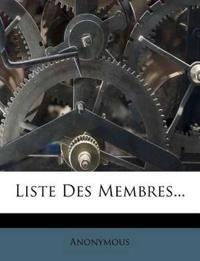 Liste Des Membres...