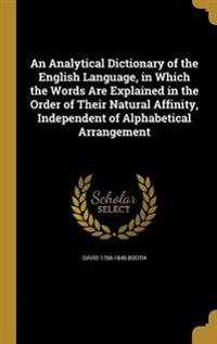 ANALYTICAL DICT OF THE ENGLISH