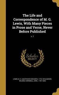 LIFE & CORRESPONDENCE OF M G L