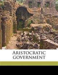 Aristocratic government