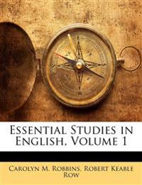Essential Studies in English, Volume 1