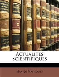 Actualites Scientifiques