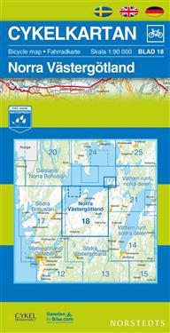 Cykelkartan Blad 18 Norra Västergötland : 1:90000
