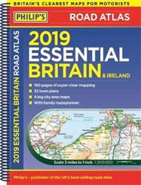 Philips 2019 essential road atlas britain and ireland - spiral a4 - (spiral