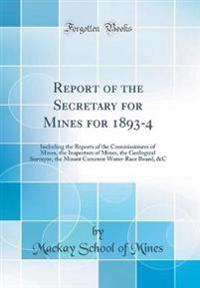 REPORT OF THE SECRETARY FOR MI