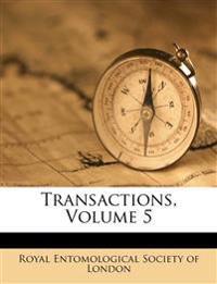 Transactions, Volume 5