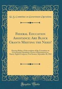 Federal Education Assistance
