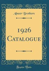 1926 Catalogue (Classic Reprint)