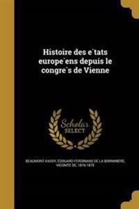 FRE-HISTOIRE DES E TATS EUROPE