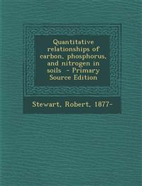 Quantitative relationships of carbon, phosphorus, and nitrogen in soils