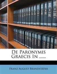 De Paronymis Graecis In ......
