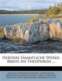 Herders sämmtliche Werke, Zwölfter Band