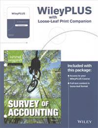 Survey of Accounting WileyPlus Access Code + Survey of Accounting