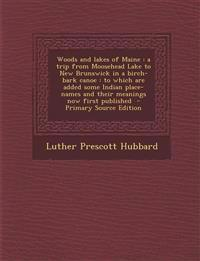 Woods and lakes of Maine : a trip from Moosehead Lake to New Brunswick in a birch-bark canoe : to which are added some Indian place-names and their me