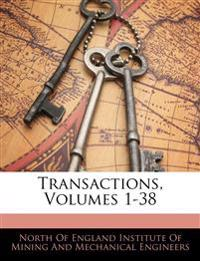Transactions, Volumes 1-38