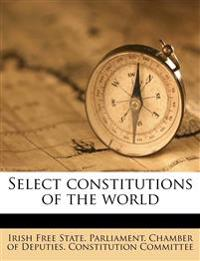 Select constitutions of the world