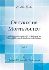 Oeuvres de Montesquieu, Vol. 3