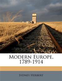 Modern Europe, 1789-1914