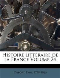 Histoire littéraire de la France Volume 24