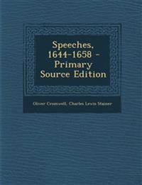 Speeches, 1644-1658