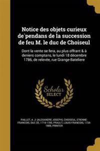 FRE-NOTICE DES OBJETS CURIEUX