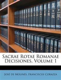 Sacrae Rotae Romanae Decisiones, Volume 1
