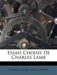 Essais Choisis De Charles Lamb