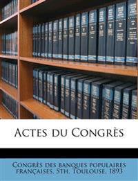 Actes du Congrès