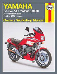 Yamaha Fj600, Fz600, Xj600 and Yx600 Radian Owners Workshop Manual